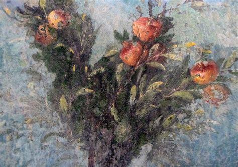 painted garden villa  livia detail  pomegranate bu