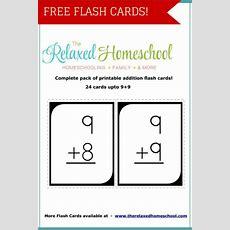 Free 24 Math Addition Flash Cards  Free Homeschool Deals