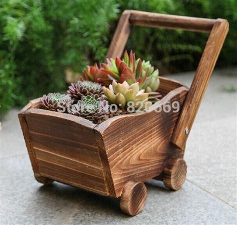 amazing ideas  wooden mini garden planters