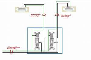 I Need To Find Wiring Diagram For 2 Lights Controlled By 2 Switches
