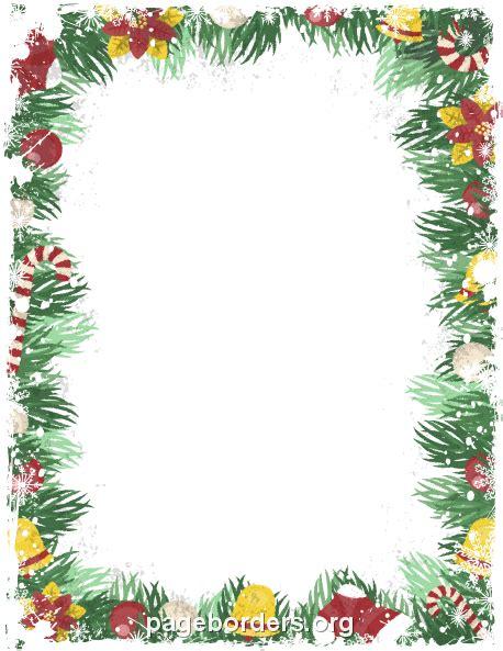 Printable vintage Christmas border. Use the border in ...