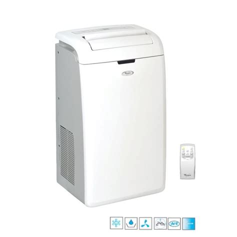 climatiseur d appartement mobile whirlpool amd082 1 climatiseur mobile electromenager pas
