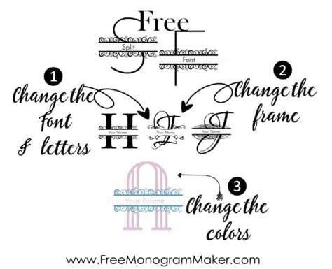 split font maker create   split letter font
