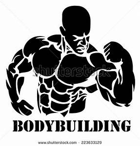 Bodybuilding, power lifting - stock vector