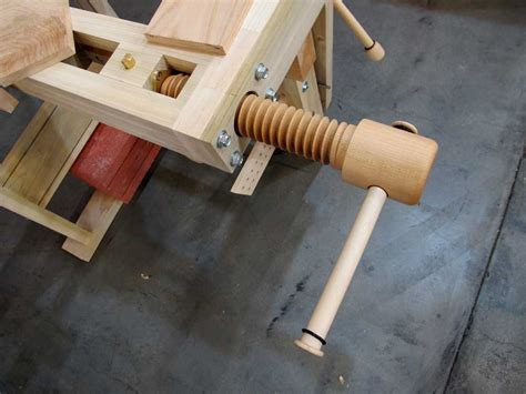 wooden vise plans   woodworking