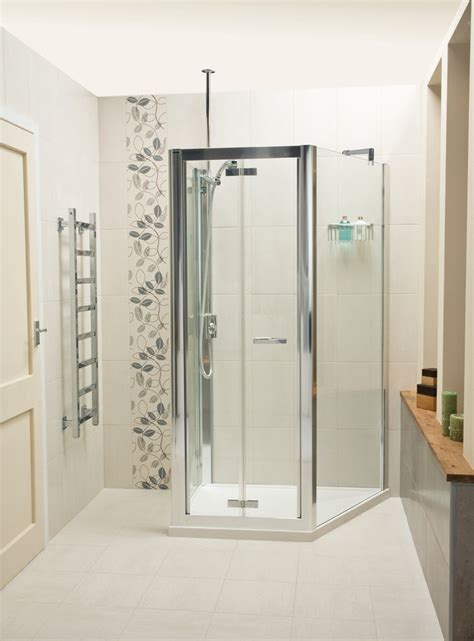 roman embrace trapezium  wall  sided shower enclosure