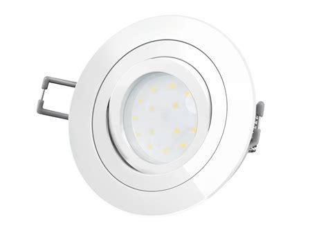 RF 2 runder LED Einbaustrahler weiß, schwenkbar flach LED