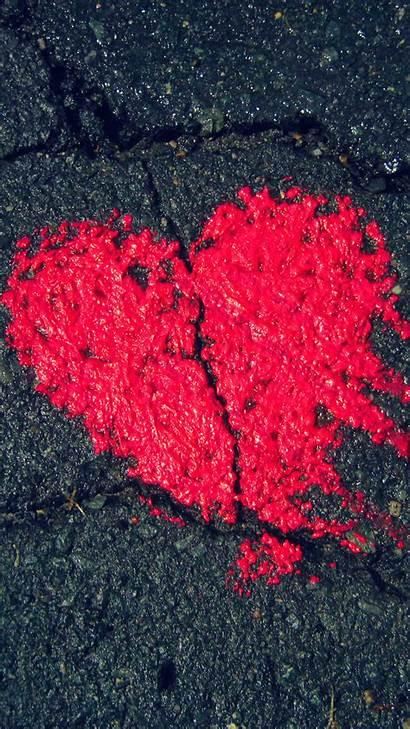 Iphone Wallpapers Valentine 4k Heart Fondos Asphalt