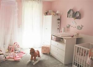 Chambre Bébé Fille Déco : idee deco chambre bebe fille photo ~ Teatrodelosmanantiales.com Idées de Décoration