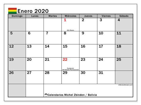 calendario enero bolivia michel zbinden es