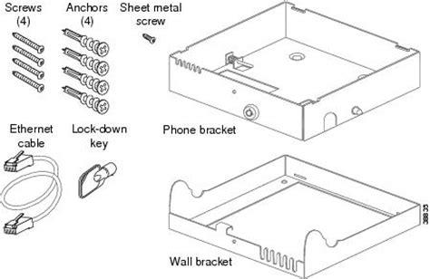installing  wall mount kit   cisco ip phone