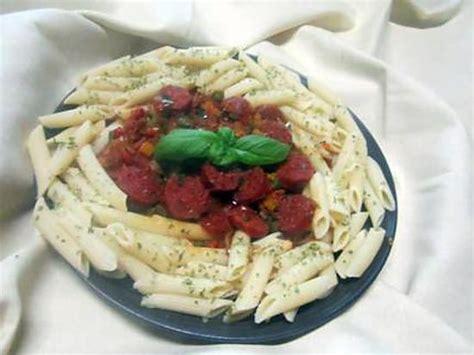 recette pate et chorizo recette de chorizo aux p 226 tes pennes et poivrons