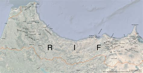 Map of Key Locations during the Rif War by Jesús Dapena ...