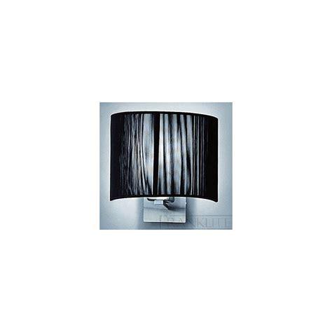 franklite wb901 1075 panache black strung half shade wall