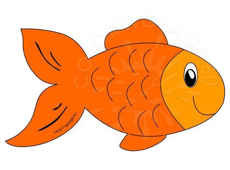 Cute Orange Fish Cartoon