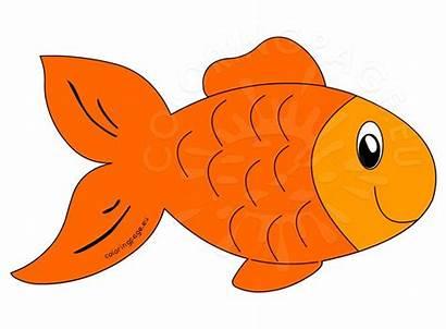 Fish Cartoon Orange Clipart Gold Coloring Clipartmag