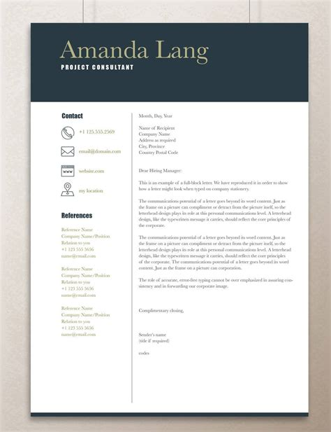 It Professional Resume Templates In Word by Modern Resume Template Professional Resume Template Word