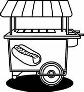 Black And White Concession Stand Clipart