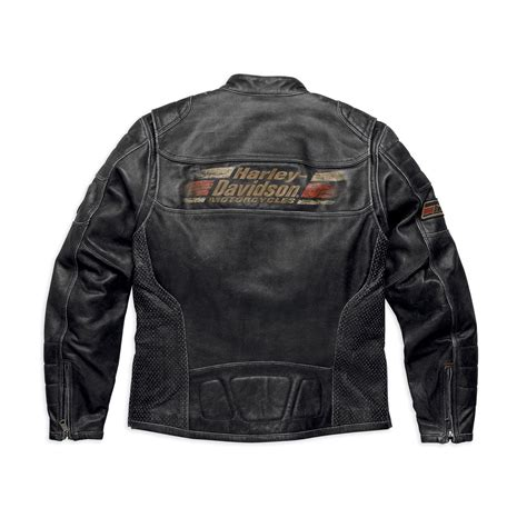 riding jackets harley davidson mens astor distressed leather riding jacket