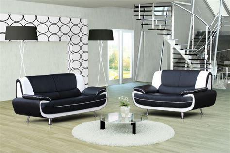 canape simili cuir blanc photos canapé noir et blanc simili cuir