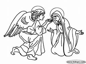 Angel Gabriel Appears To Mary Catholic Kids Coloring