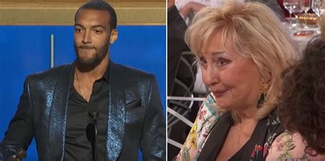 love rudy gobert sadresse  sa maman en francais sur scene