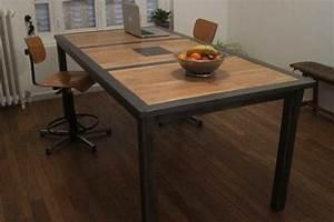 Table Industrielle Maison Du Monde : table industrielle bois acier meuble acier inspiration pinterest table bois et table bois ~ Teatrodelosmanantiales.com Idées de Décoration
