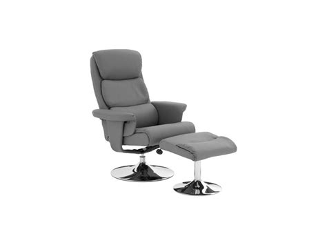 Ribbed Swivel Recliner Chair & Footstool Upholstered In