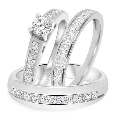 cheap wedding ring sets his and hers white gold 15 inspirations of cheap wedding bands sets his and hers