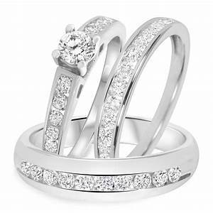 15 inspirations of cheap wedding bands sets his and hers With his and hers wedding ring sets cheap