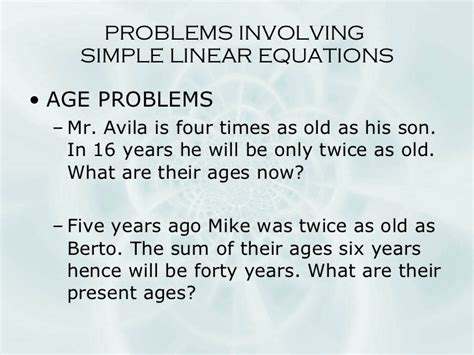 word problems linear
