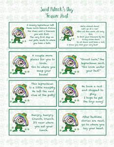 Free Printable St. Patrick's Day Treasure Hunt