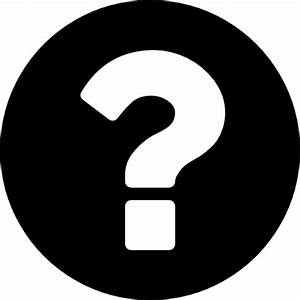 Question mark on a circular black background Icons | Free ...