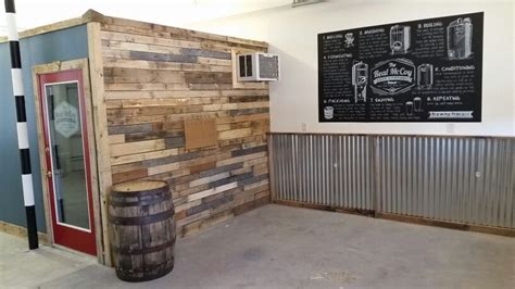 pallet wall  corrugated metal  real mccoy beer