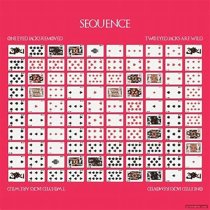 Sequence Board Printable Layout Colorful Games Printabler
