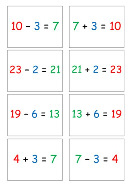 inverse operations addition and subtraction by