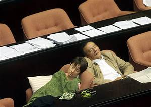 Photos surface of exhausted lawmakers napping... | Taiwan News