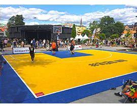 The official playground of 3x3 basketball by @fiba #fromthestreetstotheolympics. BERGO Terrain de Basket 3X3