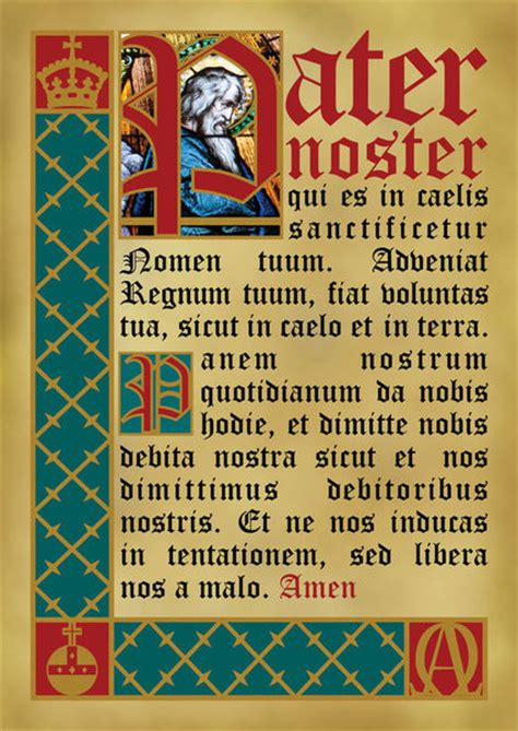 pater noster prayer quot pater noster quot graphic illustration prints and posters by alaister lim artflakes
