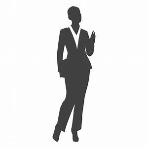 Young businesswoman silhouette - Transparent PNG & SVG vector