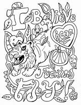 Coloring Pages Swear Adult Word Printable Books Swearstressaway Them Stress Words Swearing Colouring Visit Quote Naughty Adults Occasionally Changed Due sketch template