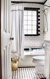 27 small black and white bathroom floor tiles ideas and for Black and white bathrooms images