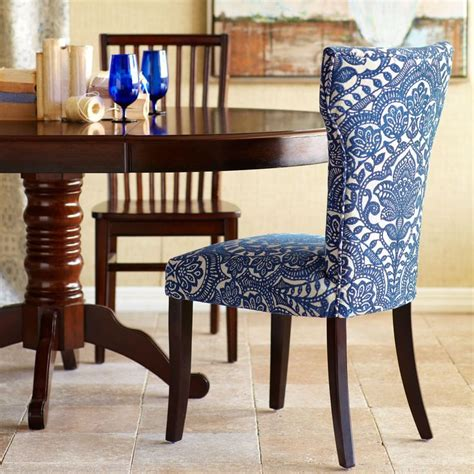 blue damask dining chair chairs pier 1 imports and