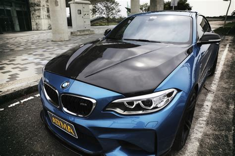 bmw m2 carbon bonnet bmw f87 m2 carbon vented hood arma speed