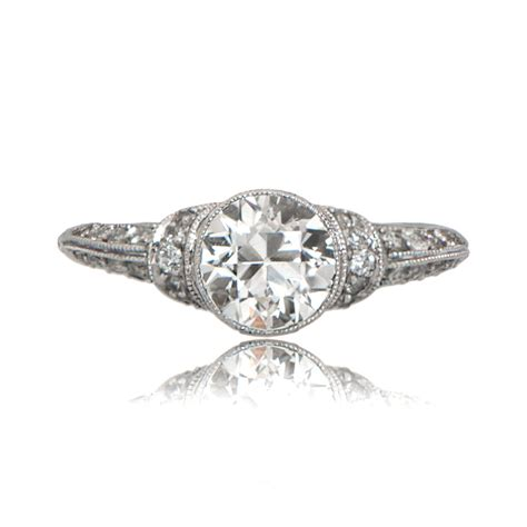 2 09ct deco style ring estate jewelry