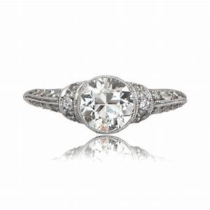 Art deco style engagement ring estate diamond jewelry for Deco wedding ring