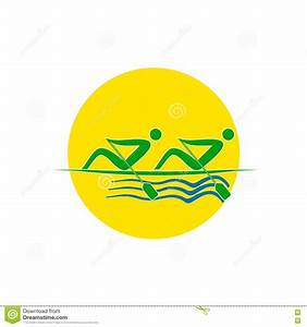 Summer Olympic Games Logo Rowing Twos. Vector Stock Vector ...