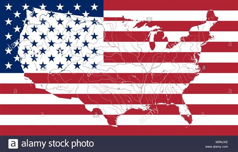 united states colors and stripes america map stock vector images alamy