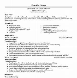 nanny resume With nanny resume builder