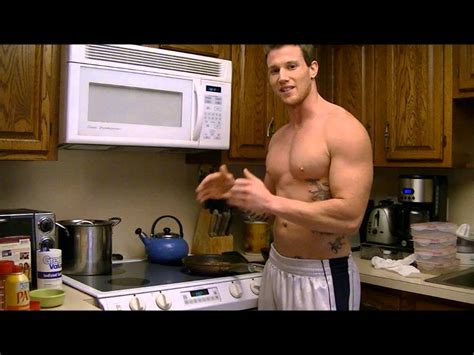 shirtless chef cooking   pack abs eggs  bacon